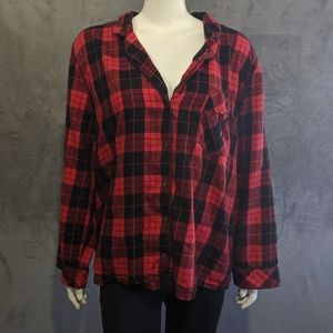 4/25🎃 Victoria's Secret red plaid sleep shirt